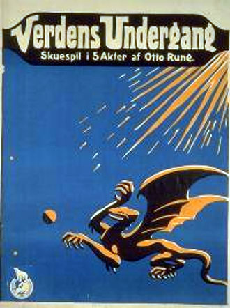 Danish poster from the movie The End of the World (Verdens undergang)