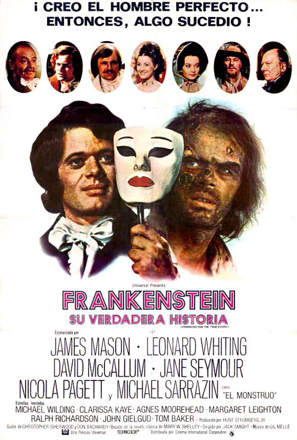 Spanish poster from the TV movie Frankenstein: The True Story