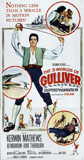 French poster from the movie Gulliver's Travels