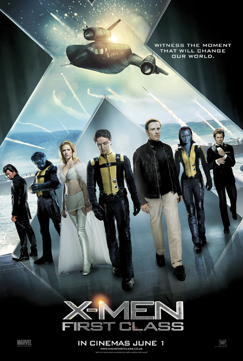 British poster from the movie X-Men: First Class