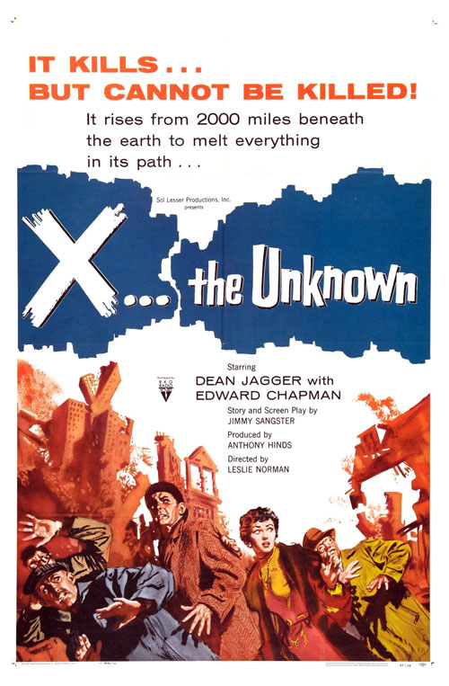 Us poster from the movie X the Unknown (X: The Unknown)