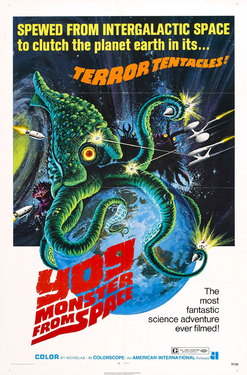 Us poster from the movie Yog: Monster from Space (Gezora, Ganime, Kameba: Kessen! Nankai no daikaijû)