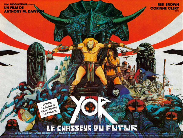 French poster from the movie Yor, the Hunter from the Future (Il mondo di Yor)