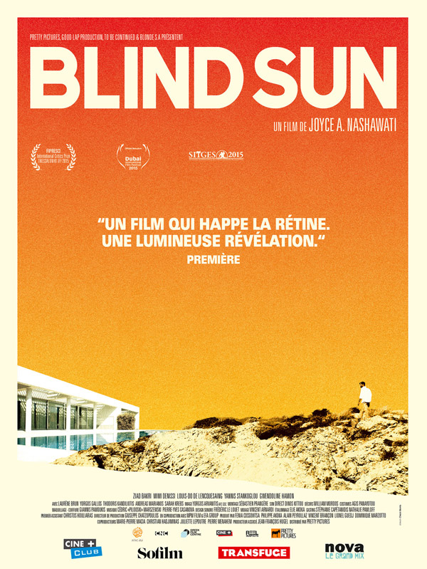 French poster from the movie Blind Sun