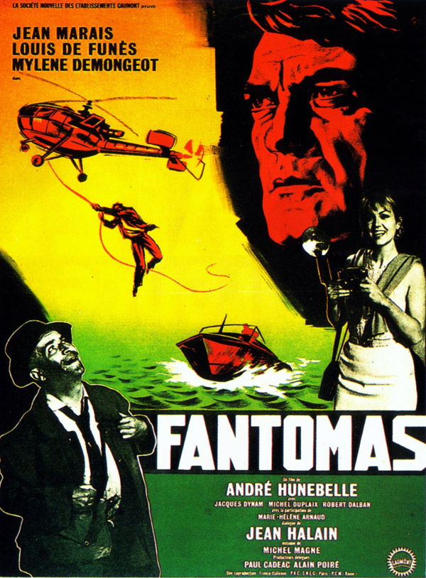 French poster from the movie Fantomas (Fantômas)