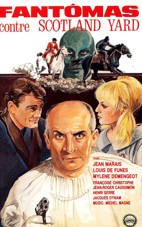 French poster from the movie Fantomas Against Scotland Yard (Fantômas contre Scotland Yard)