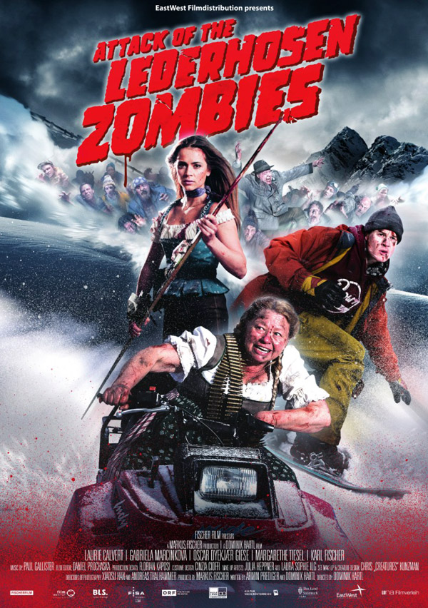 International poster from the movie Attack of the Lederhosen zombies