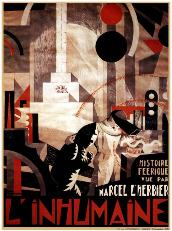 French poster from the movie The Inhuman Woman (L'inhumaine)