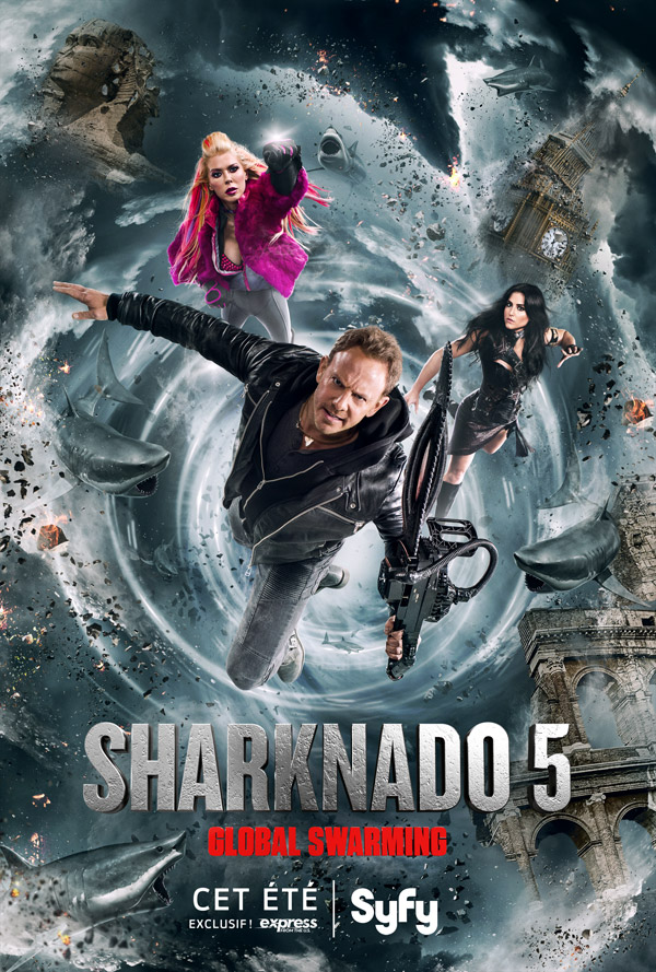 French poster from 'Sharknado 5: Global Swarming'
