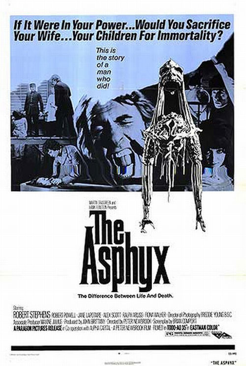 British poster from the movie The Horror of Death (The Asphyx)