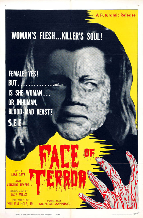 Us poster from the movie Face of Terror (La cara del terror)