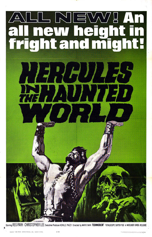 Us poster from the movie Hercules in the Haunted World (Ercole al centro della terra)