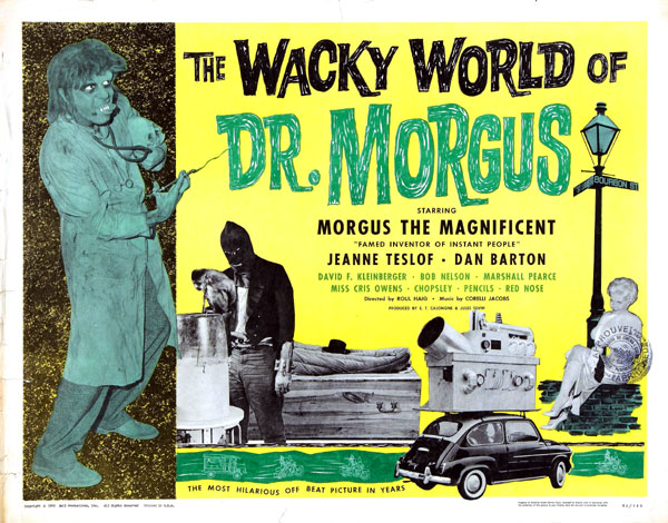 Us poster from the movie The Wacky World of Dr. Morgus