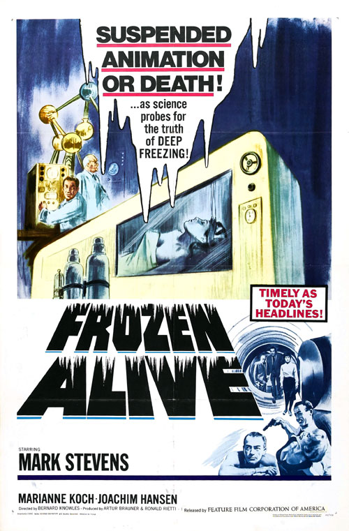 Us poster from the movie Frozen Alive (Der Fall X701)