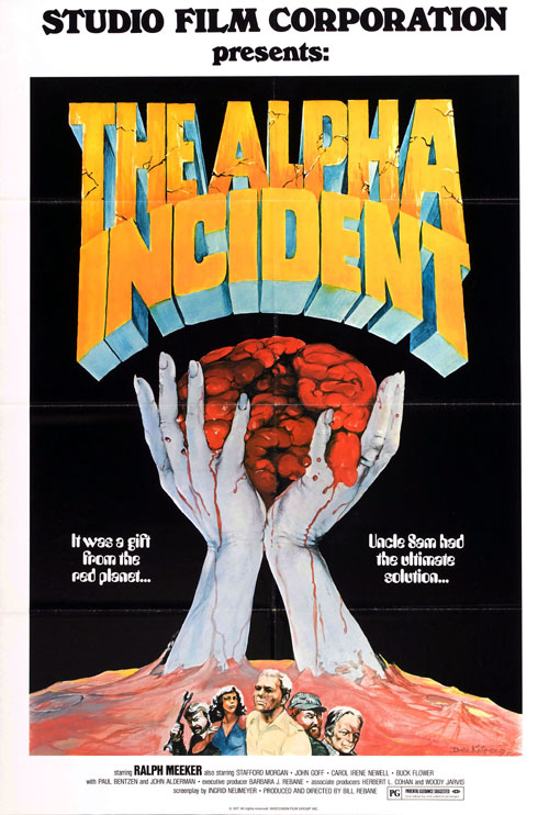 Affiche américaine de 'The Alpha Incident'
