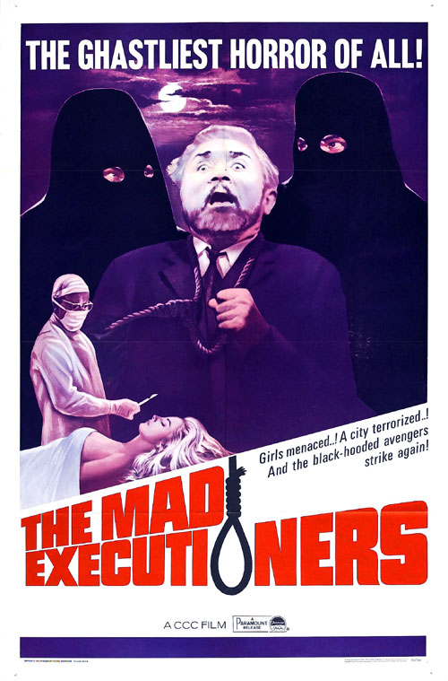 Us poster from the movie The Mad Executioners (Der Henker von London)