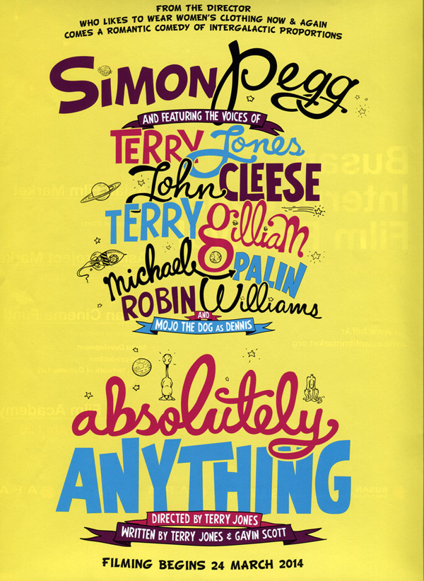 Affiche britannique de 'Absolutely Anything'