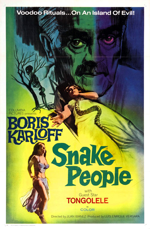 Us poster from the movie Snake People (La muerte viviente)