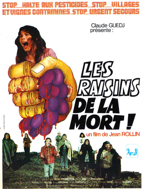 French poster from the movie The Grapes of Death (Les raisins de la mort)