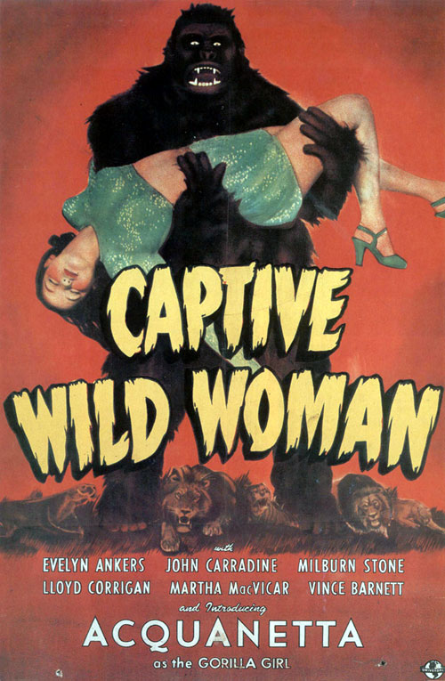 Us poster from the movie Captive Wild Woman