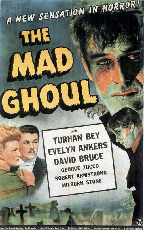 Affiche française de 'The Mad Ghoul'