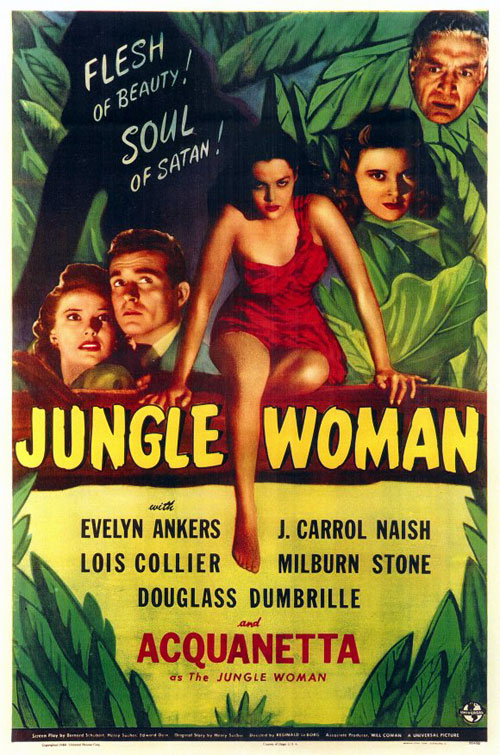 Affiche américaine de 'Jungle Woman'