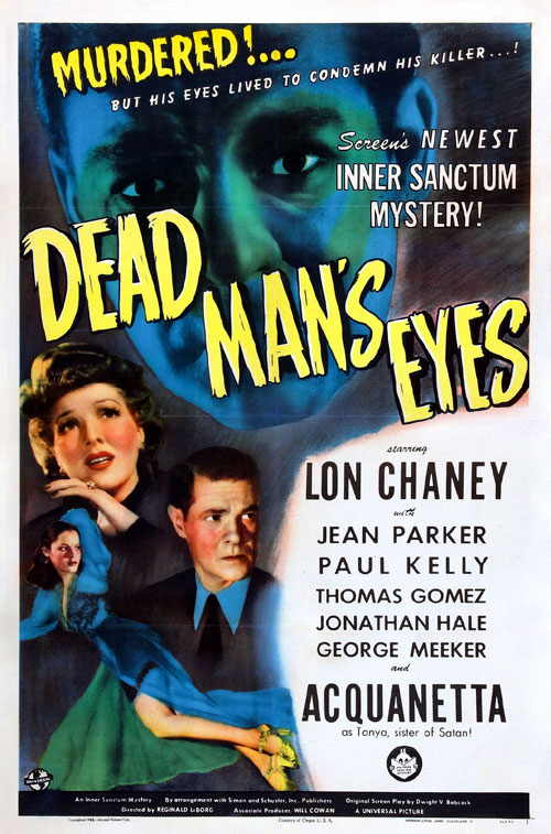 Us poster from the movie Dead Man's Eyes