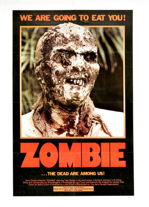 Us poster from the movie Zombie (Zombi 2)
