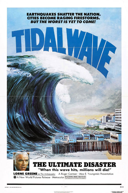 Us poster from the movie Tidal Wave (Nippon chinbotsu)