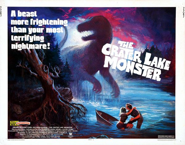 Affiche américaine de 'The Crater Lake Monster'
