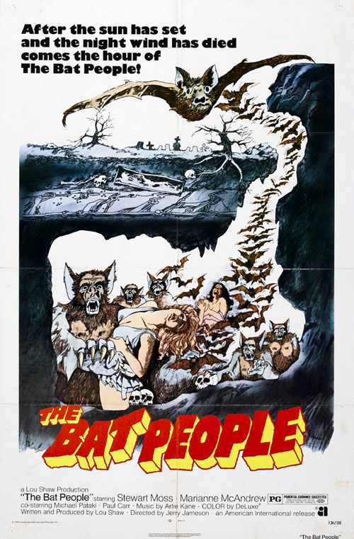 Affiche américaine de 'The Bat People'