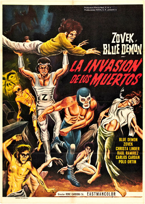 Unknown poster from the movie The Invasion of the Dead (Blue Demon y Zovek en La invasión de los muertos)