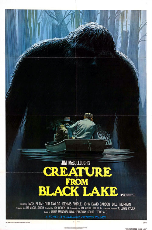 Affiche américaine de 'Creature from Black Lake'
