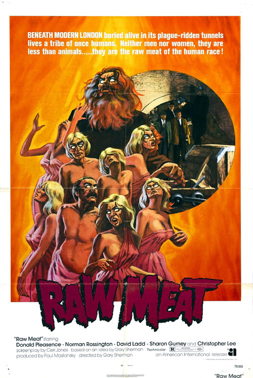 Us poster from the movie Raw Meat (Death Line)