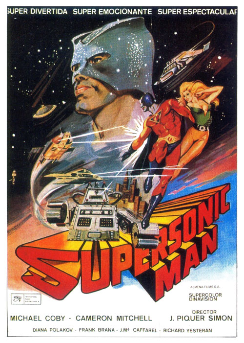 Unknown poster from the movie Supersonic Man