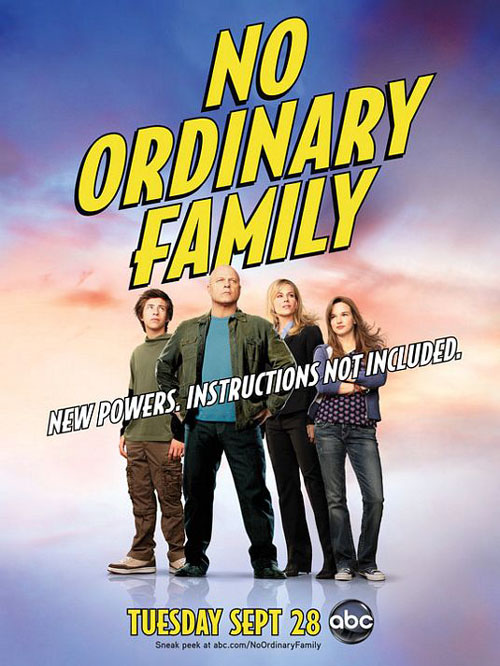 Affiche américaine de 'No Ordinary Family'