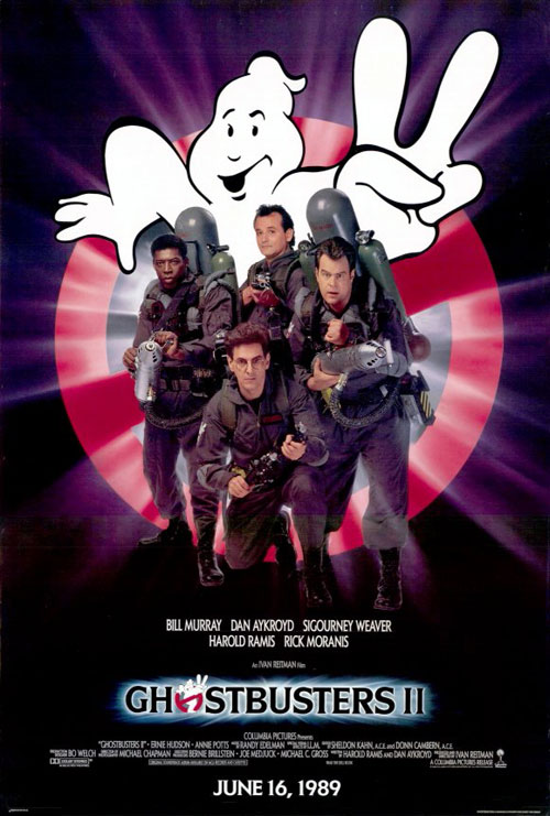 Us poster from the movie Ghostbusters II