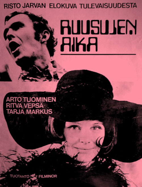 Finnish poster from the movie Time of Roses (Ruusujen aika)