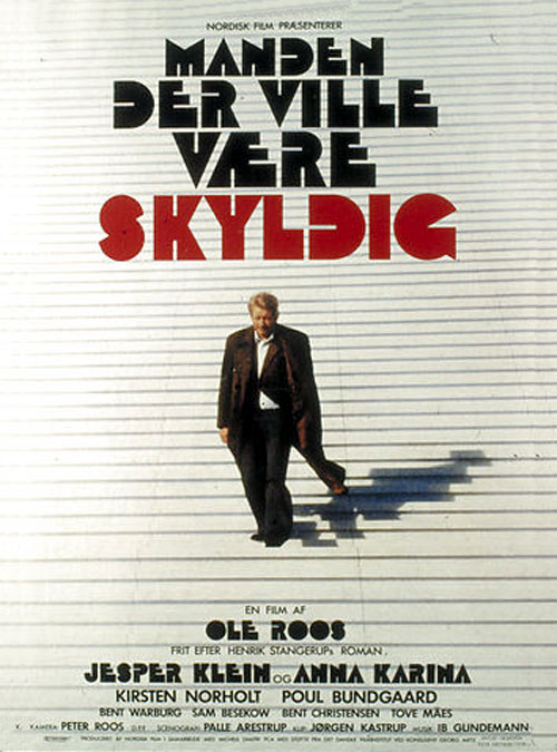 Danish poster from the movie The Man Who Wanted to Be Guilty (Manden der ville være skyldig)