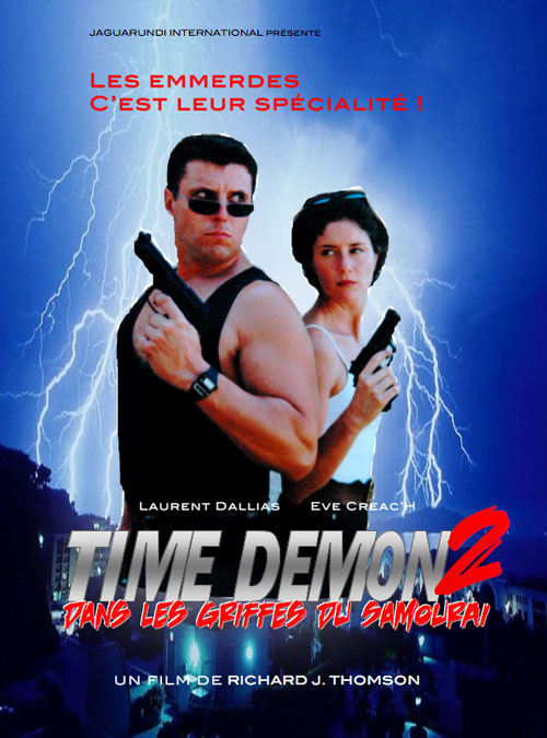 French poster from the movie Time Demon II
