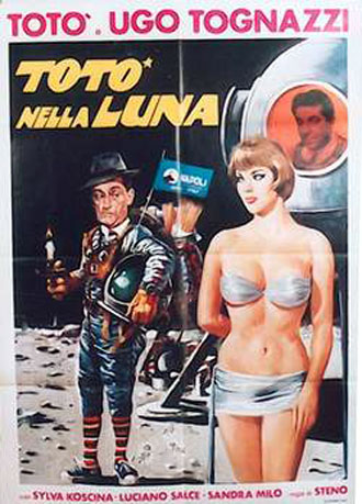 Italian poster from the movie Totò in the Moon (Totò nella luna)