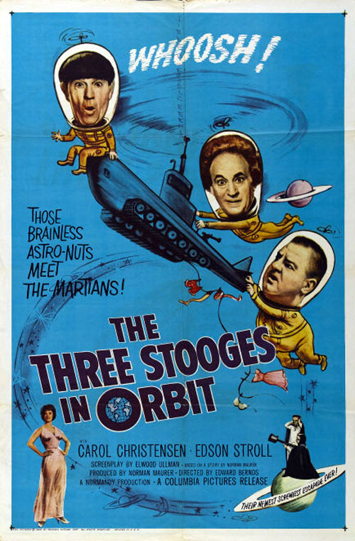 Us poster from the movie The Three Stooges in Orbit