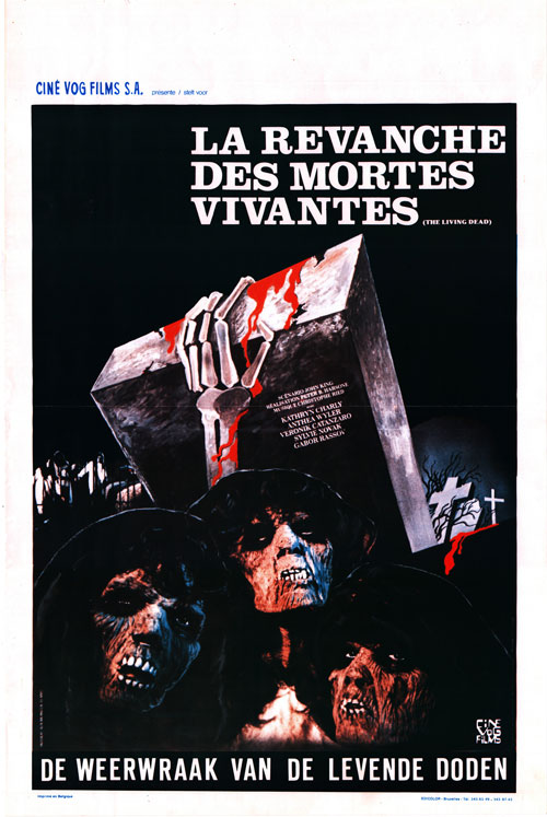 Belgian poster from the movie The Revenge of the Living Dead Girls (La revanche des mortes vivantes)