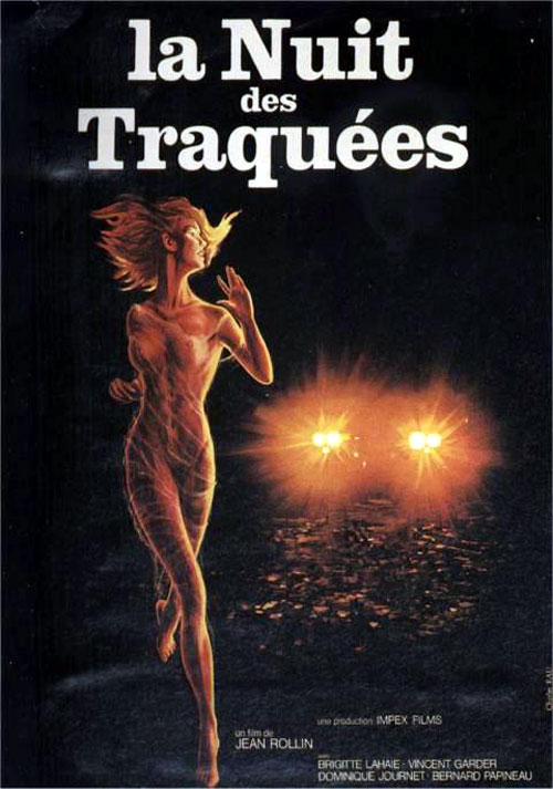 French poster from the movie Night of the Hunted (La nuit des traquées)