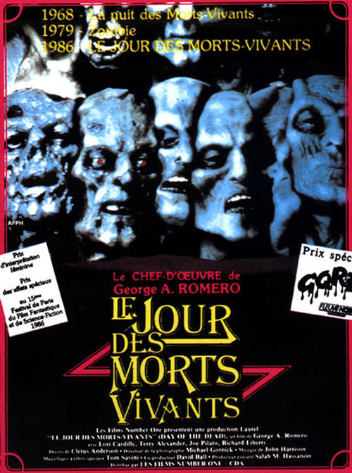 Affiche française du film Le jour des morts vivants (Day of the Dead)