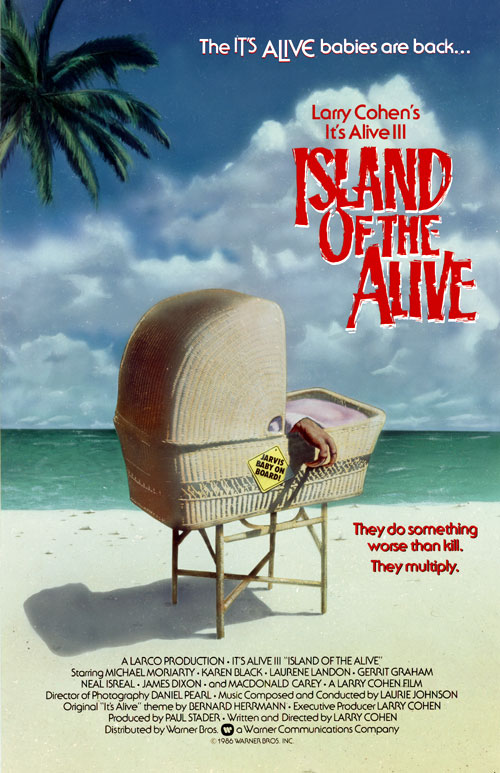Us poster from the movie It's Alive III: Island of the Alive
