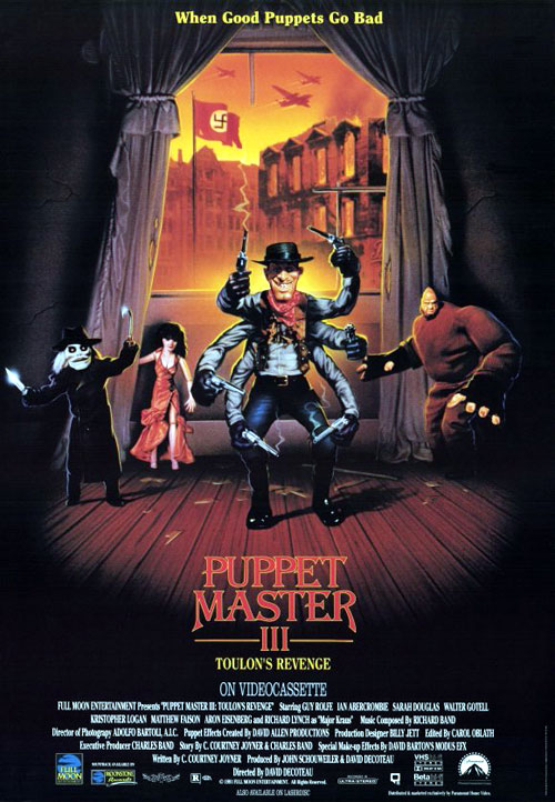 Us poster from the movie Puppet Master III: Toulon's Revenge