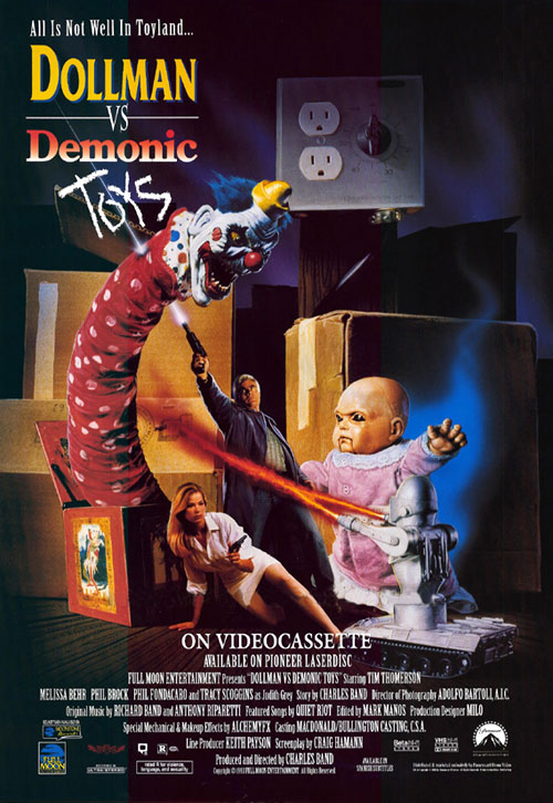 Us poster from the movie Dollman vs. Demonic Toys