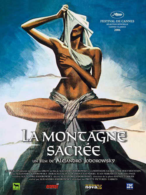 French poster from the movie The Holy Mountain