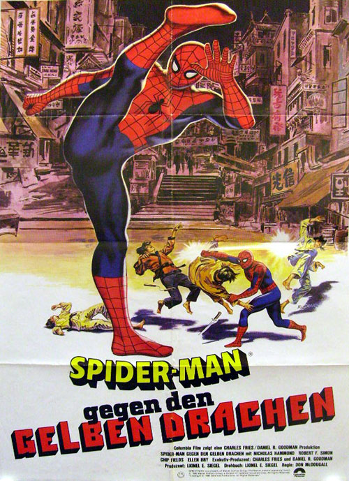 German poster from the TV movie Spider-Man: The Dragon's Challenge